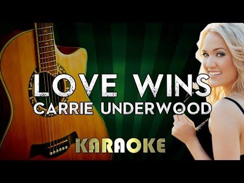 Carrie Underwood - Love Wins | LOWER Key Acoustic Guitar Key Piano Karaoke Instrumental Lyrics