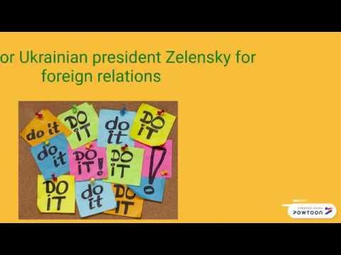 Tasks for Ukrainian president Zelensky for foreign relations