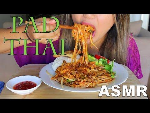 ASMR: Pad Thai Noodles *EATING SOUNDS*  Mukbang
