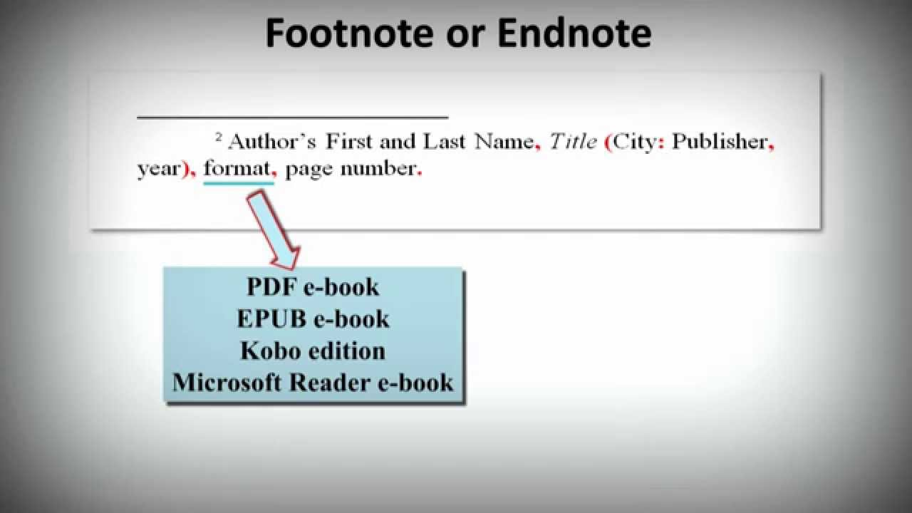Chicago notes bibliography style how to cite ebooks youtube ccuart Images