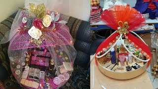 DIY     decorative  idea of makeup box for wedding    gift packing ideas