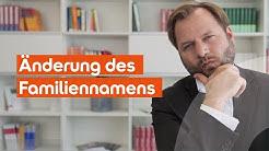 Kann ich meinen Familiennamen ändern lassen? SRH Lawcast klärt auf