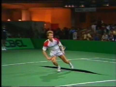Tennis Davis Cup 1985 Westphal - Smid (Carpet trouble - Part 2)