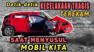 Kecelakaan Tragis!!! Detik-detik bule mabuk salip mobil Uya, akibatnya mobil hancur lebur!!!!