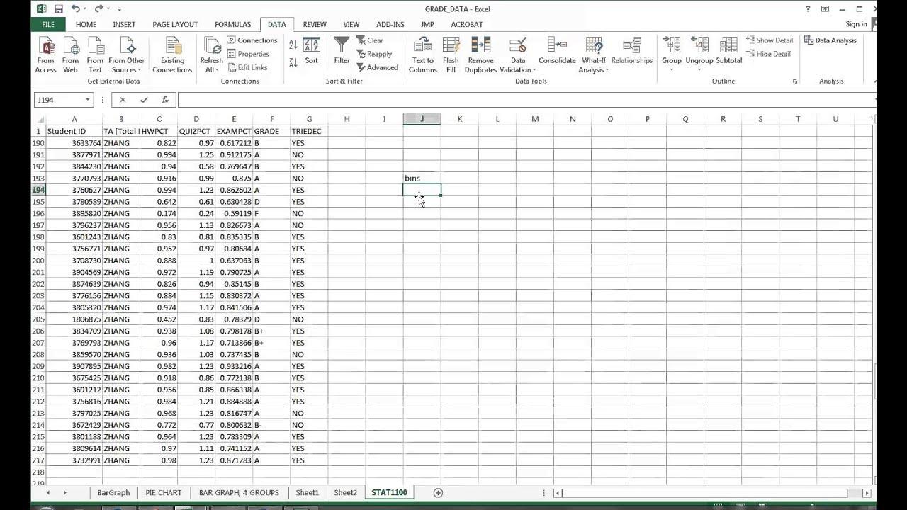 Excel Histogram Ogive
