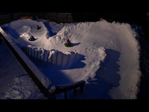 Backyard luge sled run