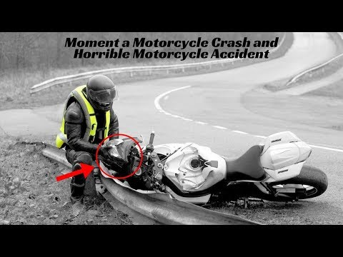 Moment a Motorcycle Crash and Horrible Motorcycle Accident