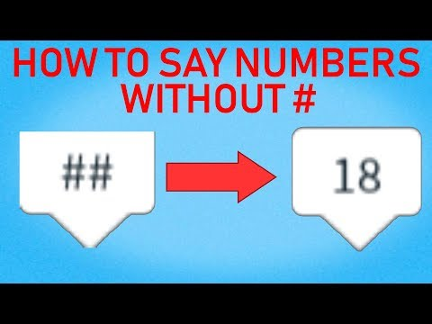 HOW TO SAY NUMBERS WITHOUT TAGS IN ROBLOXиз YouTube · Длительность: 3 мин41 с