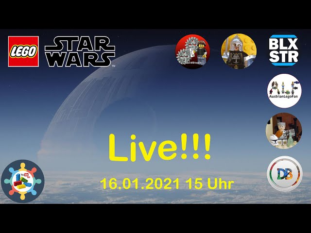 Lego® Star Wars Live Aufbau | #BuildingBricksForHappiness [BBFH]