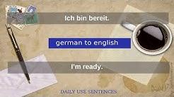Deutsch nach Englisch | Englisch lernen nützliche Sätze |german to  english