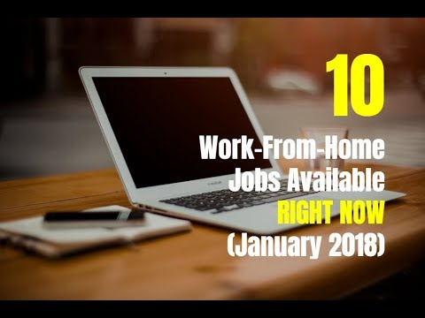 10 Work-From-Home Jobs Available Right Now (January 2018)