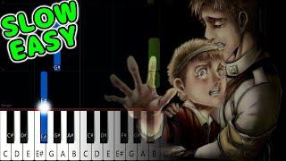 Shock / Shougeki - Attack on Titan Final Season ED - SLOW EASY Piano Tutorial [animelovemen]