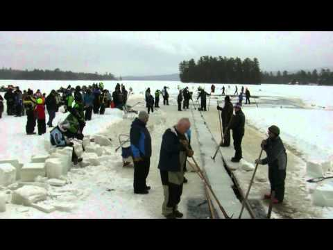 Raquette Lake Ice Harvest 2013