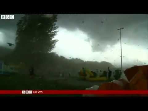 Hurricane force winds flatten Swiss sports festival
