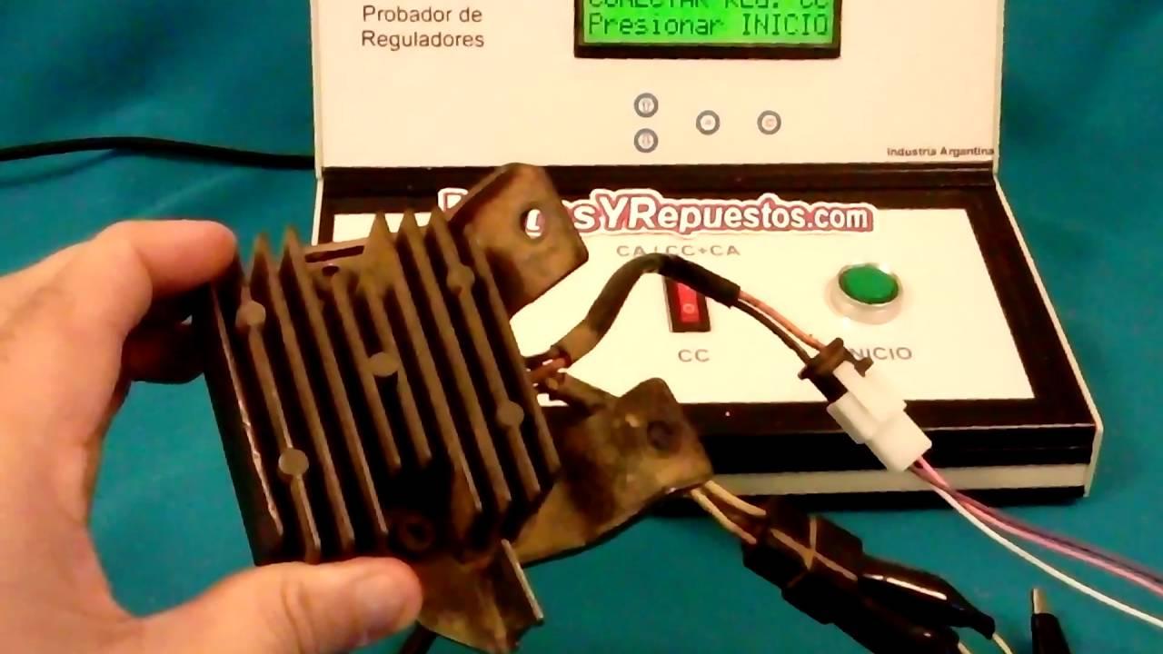 9ef4f7151e7 Como Falla un Regulador de moto Banco de Prueba electronico Rectificadores