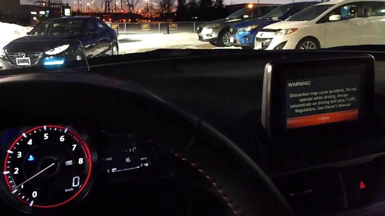 2014 Mazda3 Gt Model Interior At Night Extended Youtube