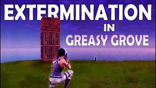 SOLO vs SQUAD   GREASY GROVE EXTERMINATION - (Fortnite Battle Royale)