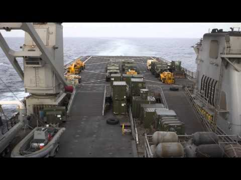 USS Carter Hall Flight Deck Time Lapse