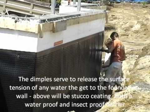 Icf Foundation Water Proofing Youtube