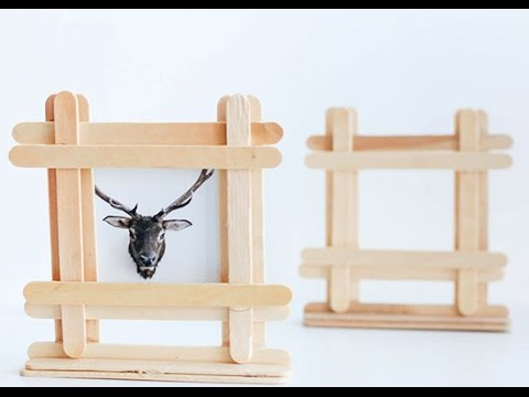 Kid Friendly Popsicle Stick Picture Frame Tutorial - YouTube