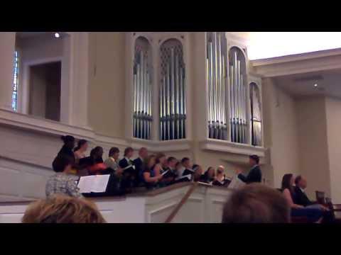 Collegiate School Graduation Ceremony: Day before. Collegiate chorus. Richmond 2013.