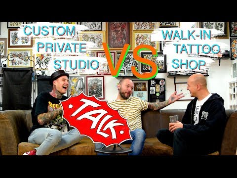 Private Custom Tattoo Studio vs Walk in Shop