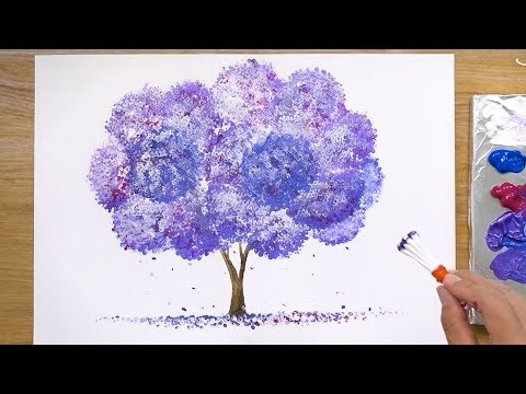 How to Paint a Violet Tree in Acrylic - JayLee