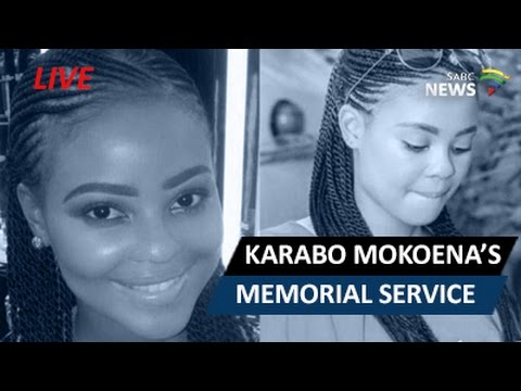 Memorial service for Karabo Mokoena