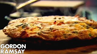 Bacon, Pea & Goats Cheese Frittata - Gordon Ramsay