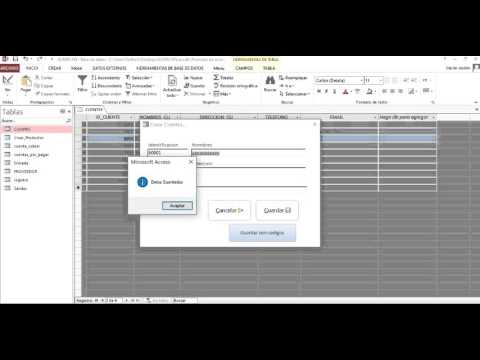 Guardar registros o datos en una tabla de access desde formulario utilizando códigos VBA