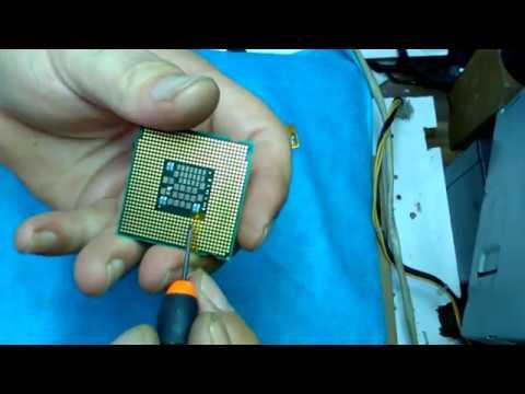 XEON 771 & 775 PIN CPU-İşlemci MODLAMA ve Sticker Yapıştırma Çalışması