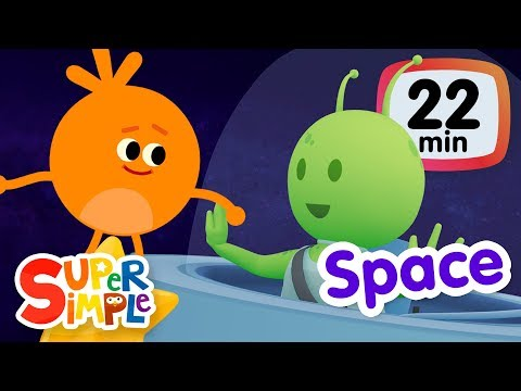 The Super Simple Show - Space! | Kids Songs & Cartoons About The Sun, Planets, Stars & More!
