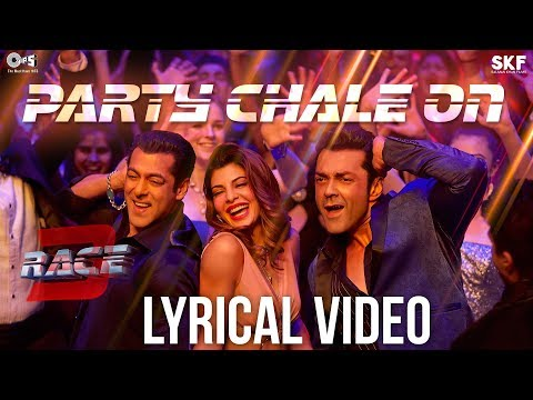 Party Chale On Song with Lyrics - Race 3 | Salman Khan | Mika Singh, Iulia Vantur | Vicky-Hardik
