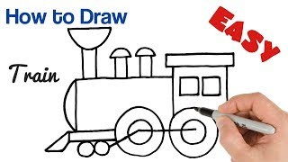 how to Draw a Train Easy Step by Step