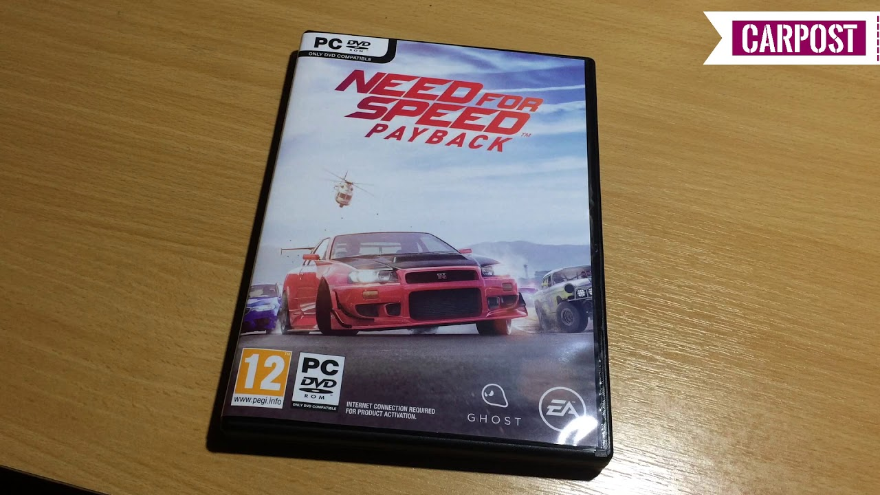 Need For Speed Payback Pc Dvd Overview Unboxing Carpost Youtube