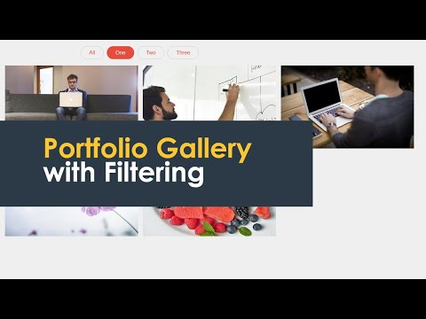 Image Gallery With Filtering Category Using Html Css And Jquery | CsPoint Website Designing Tutorial