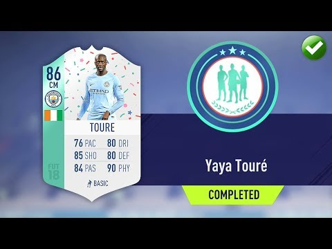 FUT BIRTHDAY YAYA TOURE SBC! (CHEAPEST METHOD & COMPLETED) | FIFA 18 Ultimate Team