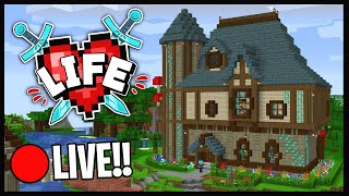 🔴 MINECRAFT X LIFE SMP LIVE!! | GRINDING DIAMONDS FOR JOELS AUCTION!! | 7 HEART GANG..