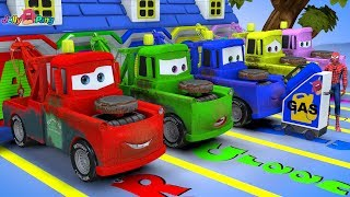 Learning color Lightning McQueen's friend mater magic oil juice play for kids car toys