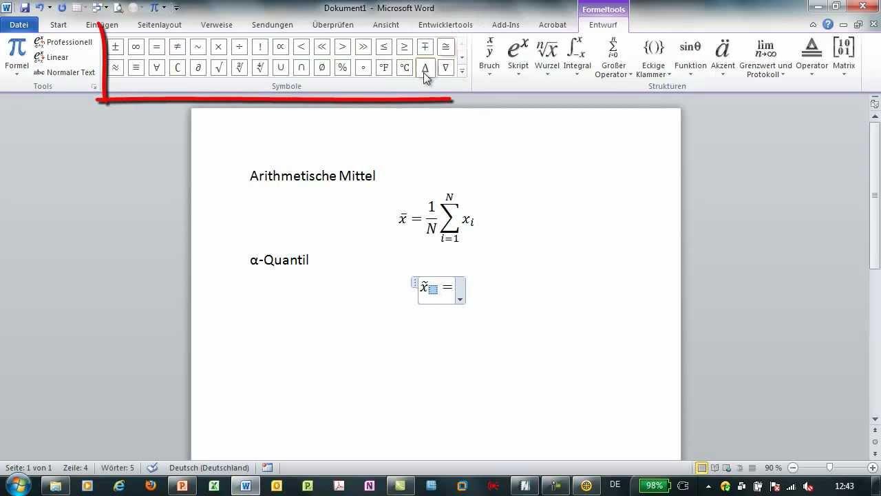 Office 2010 Formeln Erstellen Formeleditor Für Word Excel