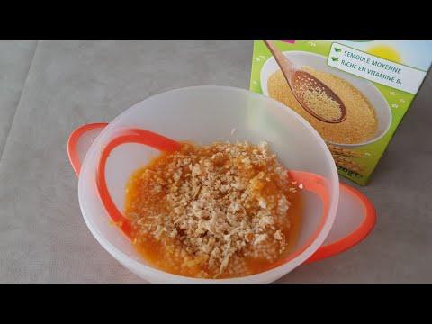 repas-pour-bÉbÉ-de-8-mois-à-18-mois.-recette-aux-légumes,-poulet-et-semoule