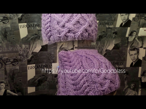 Шапка спицами. КотоШапка. Часть 3.  // Knitting for kids // How to knit a hat