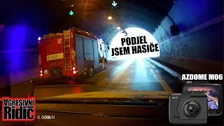 Snow calamity in Prague, Snow on D1 Highway, Czechs behind the wheel, AZDOME Dashcam