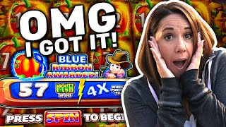 BIG WIN !! 57 FREE Games with a 4X MULTIPLIER !! Fill it UP !!