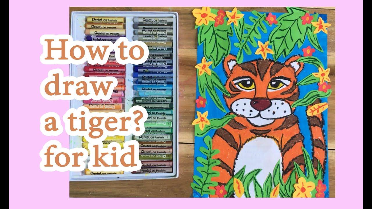 [For kids] Vẽ và cắt dán bức tranh con hổ trong rừng | How to draw a tiger?