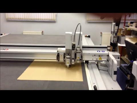 Изготовление коробки из картона на лазерном гравере JCC