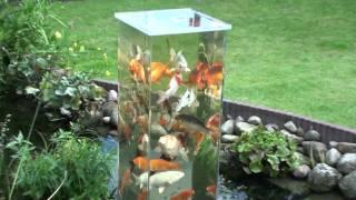 Mein Koi Aussichtsturm im Gartenteich - bei Tag (4)
