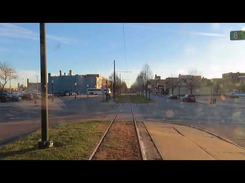A lap before regular service Kenosha Streetcar Line