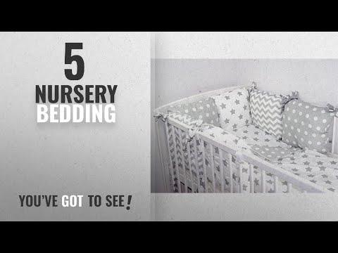 Top 10 Nursery Bedding [2018]: Baby's Comfort 8 PCS BABY BEDDING SET - Pillow Bumper & Duvet Cover