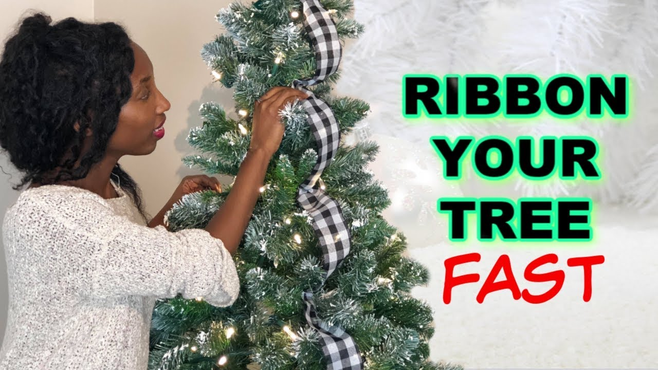 How to Ribbon a Christmas Tree + Easy